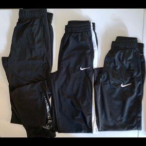 Nike Dri-Fit Medium Athletic Pants Black Boys
